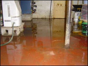 Sewage Overflow In A Commercial Property
